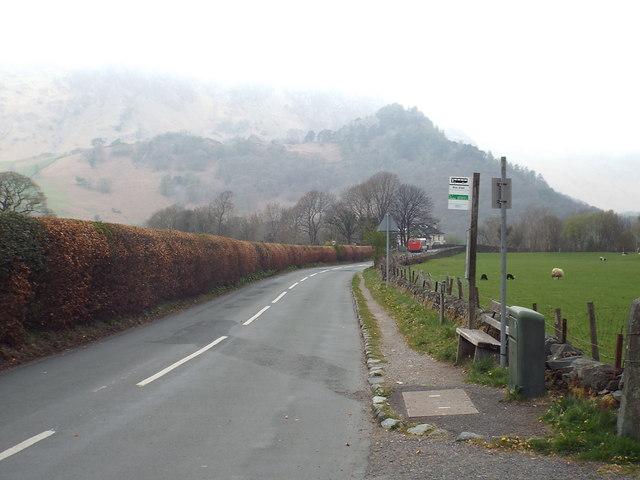 B5289 road at Rosthwaite
