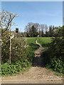 TM2784 : Footpath off High Road by Geographer