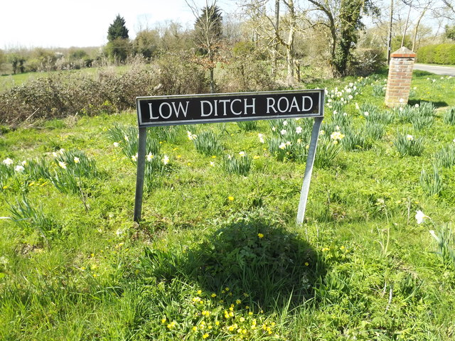 Low Ditch Road sign