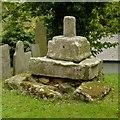 SK6821 : Medieval cross, Grimston churchyard by Alan Murray-Rust