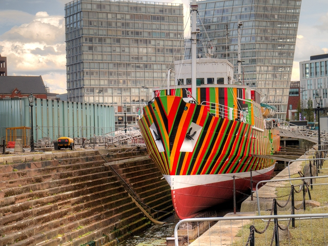 Dazzle Ship, Canning Graving Dock