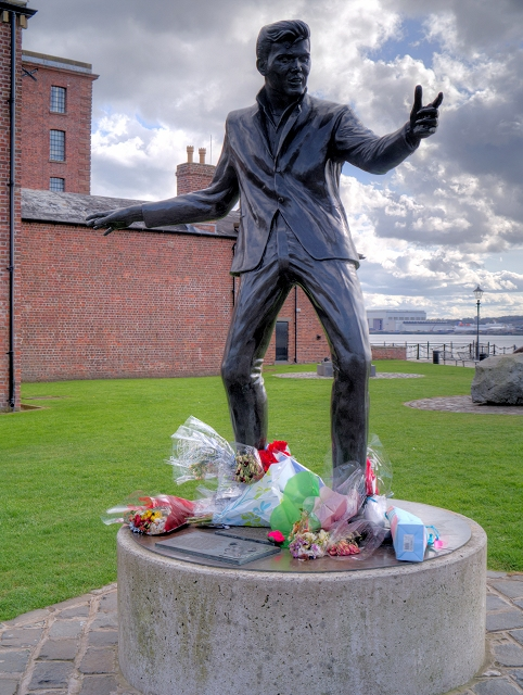 Billy Fury Sculpture at the Albert Dock