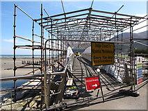 J3731 : Scaffolding on the Shimna Estuary footbridge by Eric Jones