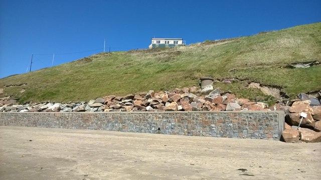 Sea wall at Aberdaron