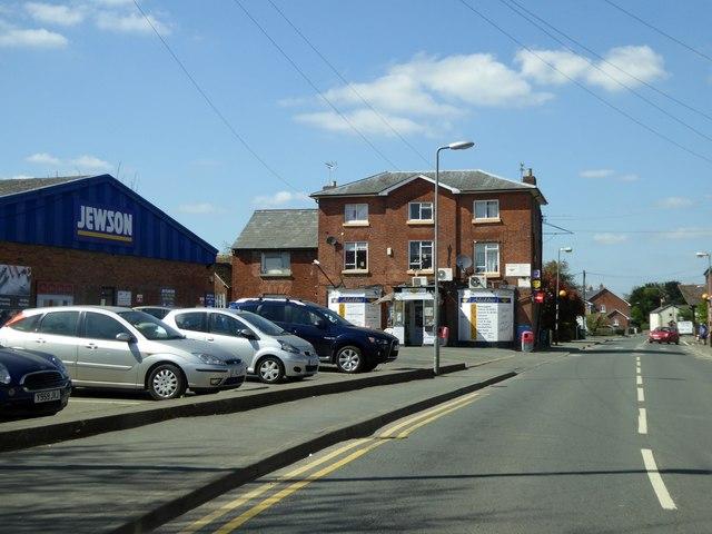 Builders' merchants and newsagents, Bridge Street, Leominster