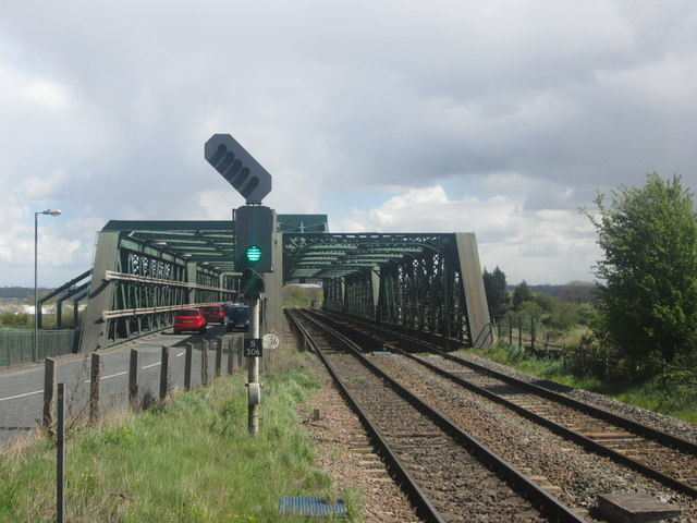 Road and rail bridge over the River Trent