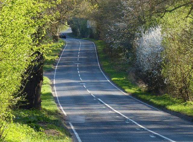 B4113 Stoneleigh Road towards Blackdown