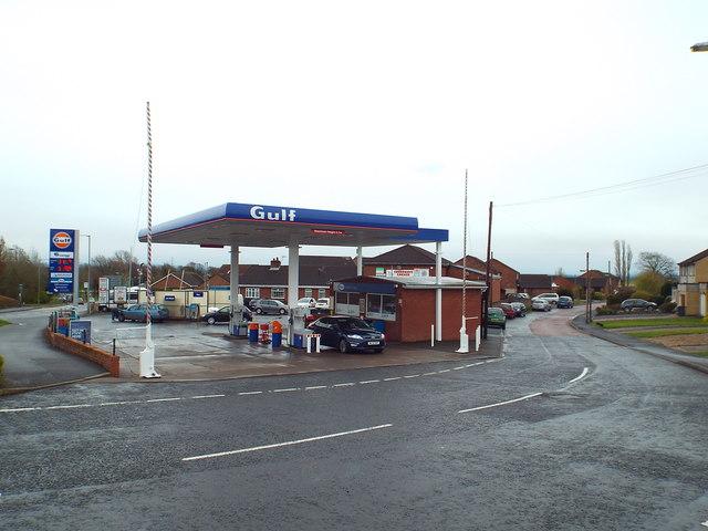 Petrol station in Gretna
