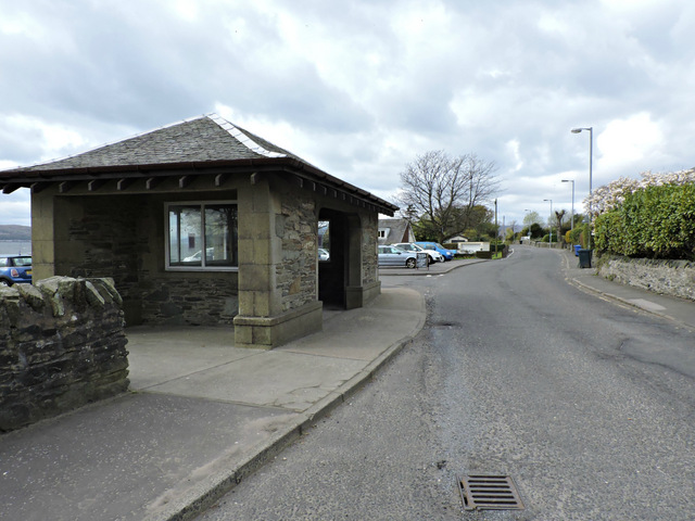 Bus shelter at Kilcreggan