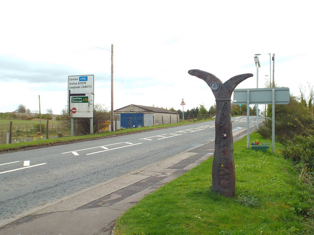 National Cycle Network signpost, Gretna Green