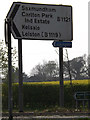 TM3865 : Roadsign on the B1121 Main Road by Adrian Cable