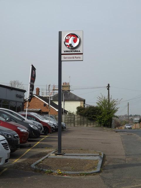 Vauxhall sign at London Road Garage
