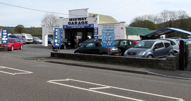 Midway Garage and Ammanford Car Wash, Llandybie