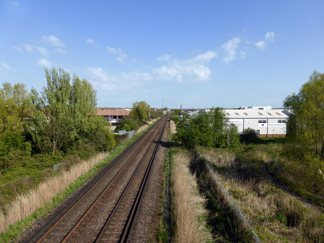 Railway track from Cross Levels Way