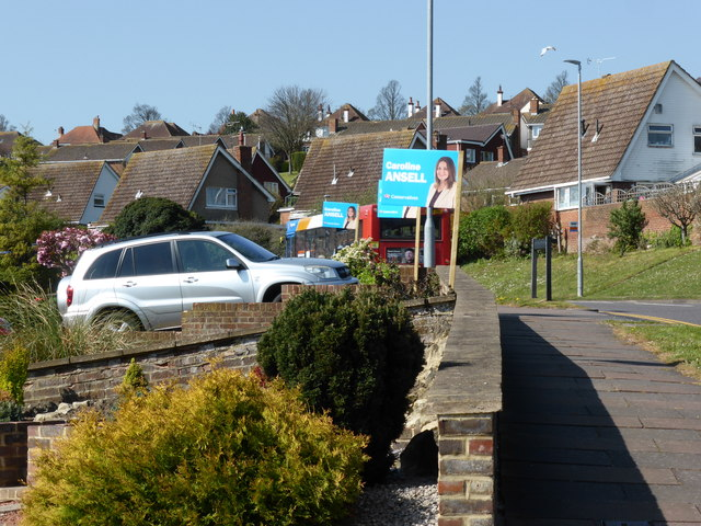 Conservative Election Adverts on Rodmill Drive Eastbourne