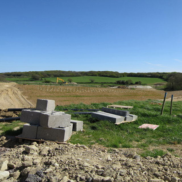 Combe Valley Way construction by Acton's Farm