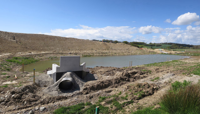 New drainage by 1066 Country Walk - Bexhill Link