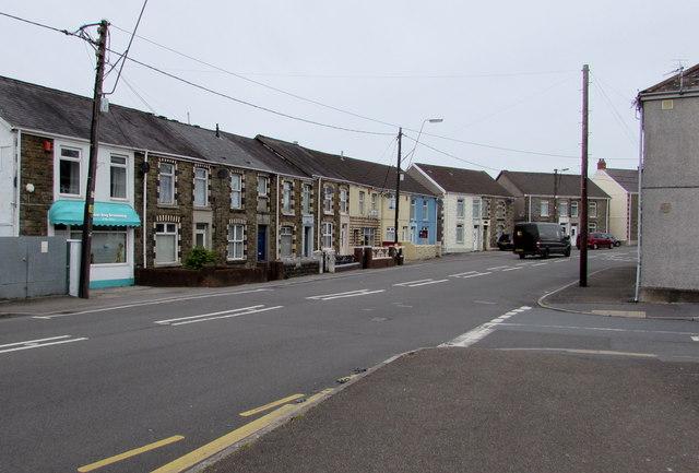 Llandybie Road near Arthur Street, Ammanford