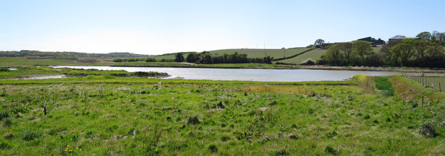 New pond, Combe Valley Countryside Park