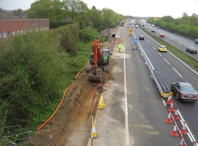 Working on a 'Smart' motorway (M3)