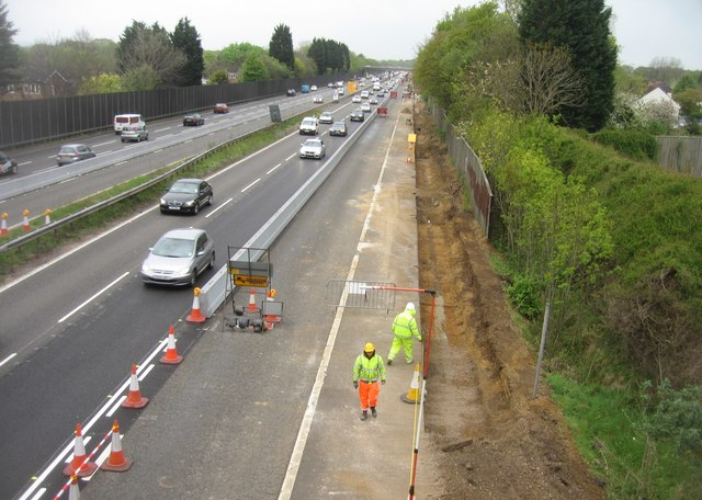 Working on a 'Smart' motorway (M3)