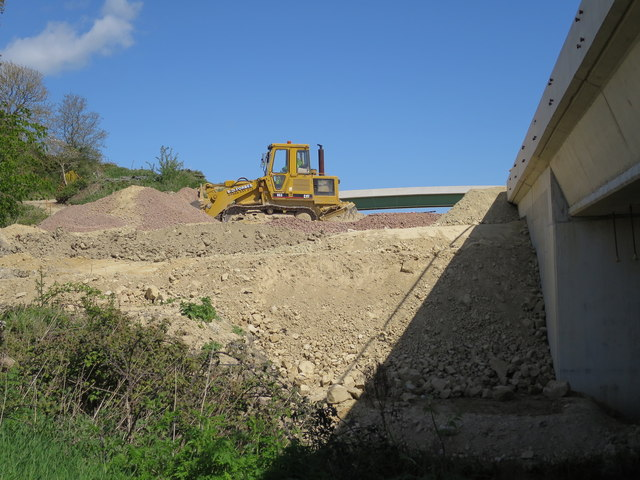Bulldozer, Combe Valley Way construction