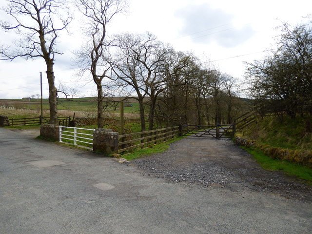 Track (public footpath) at Lower Black Moss
