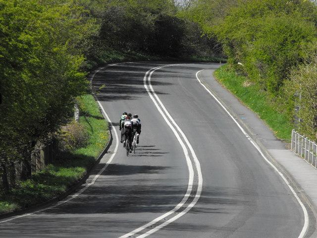 Cyclists on the Tour de Yorkshire 2015 route