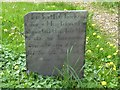 SK6617 : Early slate gravestone, Hoby churchyard by Alan Murray-Rust