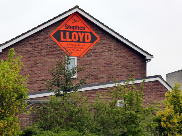 Liberal Democrats Election Advert on Rodmill Drive Eastbourne