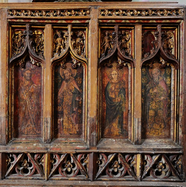North Elmham: St Mary's Church; the medieval screen