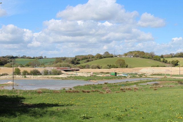 New pond by Combe Valley Way