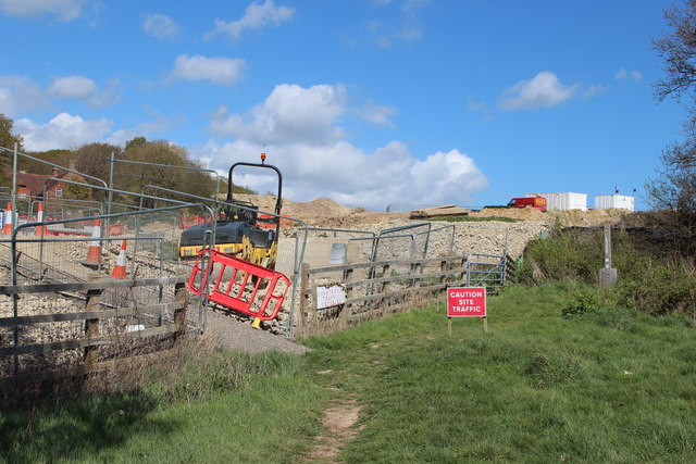 Combe Valley Way construction by Adam's Farm