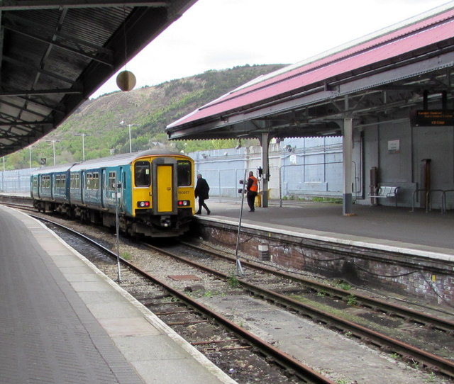 Cardiff Central train in Swansea station