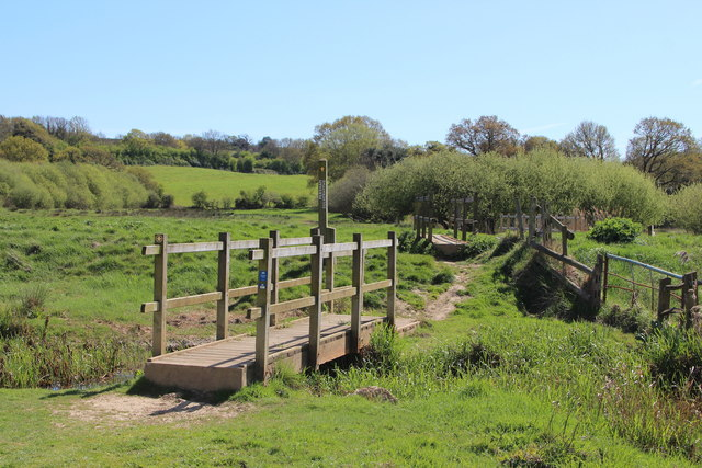 Footbridges at Combe Valley Countryside Park