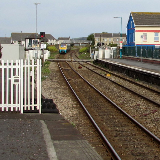 Milford Haven train viewed from Llanelli station