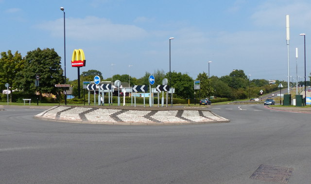 Roundabout on the A4600 Hinckley Road