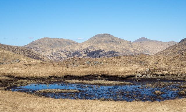 Pool near col between Beinn nan Gobhar and Cruach nan Con