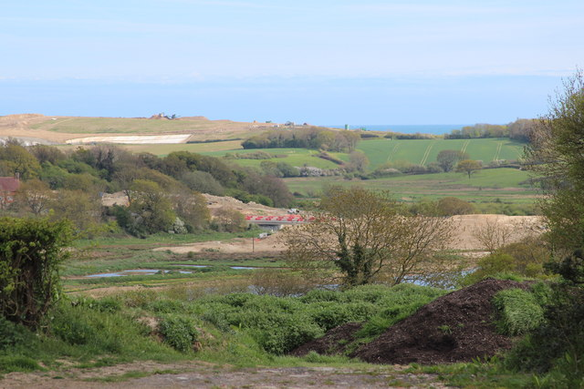 View to Combe Valley Way construction