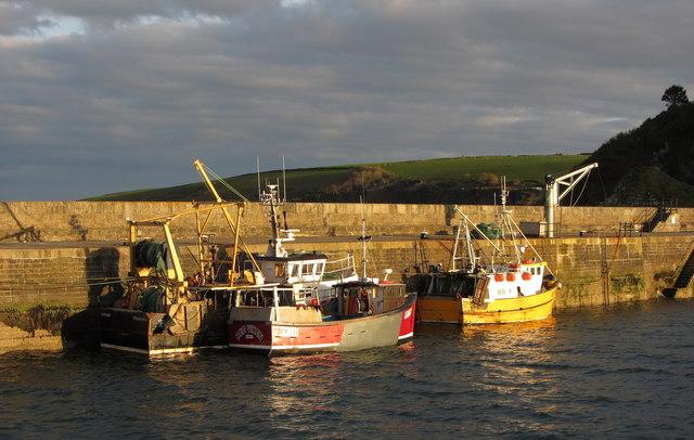 Fishing boats at Mevagissey