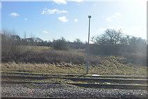 SP2391 : Railway line near Shustoke Reservoir by N Chadwick