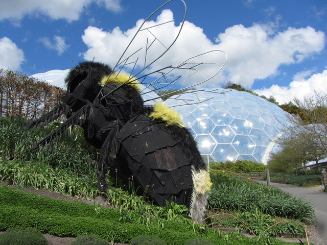 Giant bee at the Eden Project