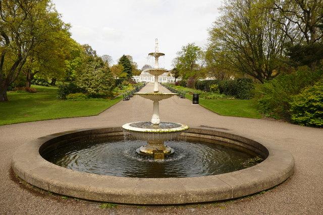 Fountain in the Botanical Gardens