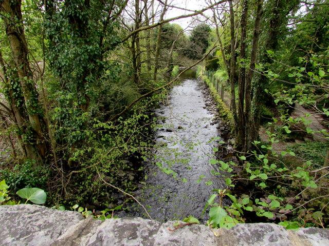 River near Brynmarlais Crossing, Llandybie