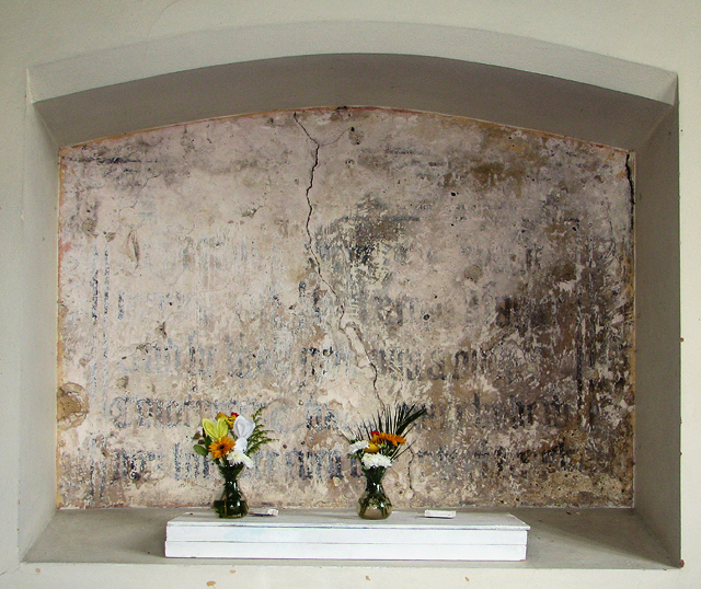 The Easter sepulchre in St Peter's church