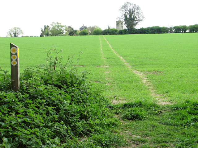 Footpath to Claxton Church