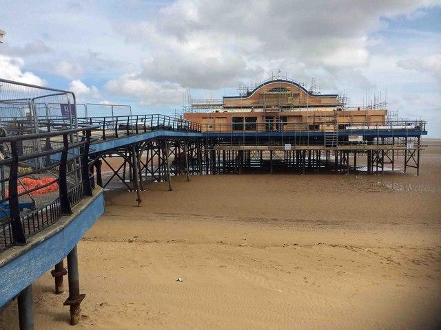 Restoration work on Cleethorpes Pier