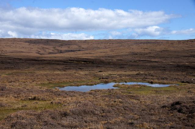 Moorland beside the Burn of Dalamut, near West Sandwick