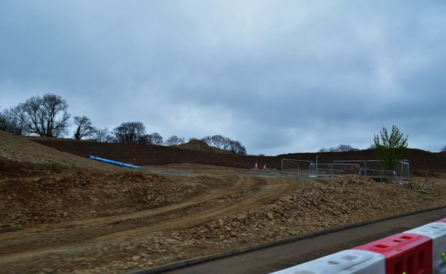 Roundabout Construction at Thomas Parry Way