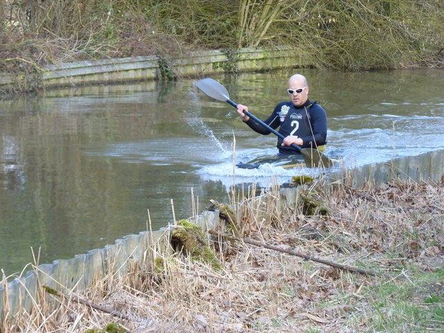 Canoeist on Worcester-Birmingham Canal